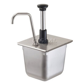 Server Stainless Steel Pump For A 1/6-Size Steam Table Pan by