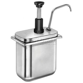 Server Stainless Steel Pump, For Shallow Fountain Jar & Thick Condiments