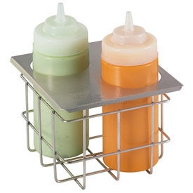 Server Cold Table Twin Bottle Holder, Holds (2) 16 Oz. Squeeze Bottles  by