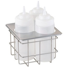 Server Cold Table Triple Bottle Holder, Holds (3) 16 Oz. Squeeze Bottles  by