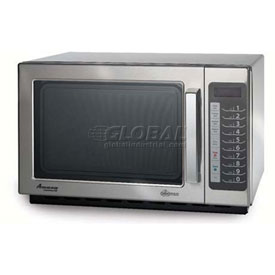 Click here to buy Amana 1.2 Cu. Ft. 1000 Watt, 100 Programmable Item Commercial Microwave.