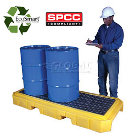 UltraTech Ultra-Spill Pallet Plus® Containment Pallet 9627 P3 3-Drum with Drain