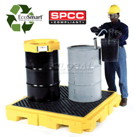 UltraTech Ultra-Spill Pallet Plus® Containment Pallet 9630 P4 4-Drum with No Drain