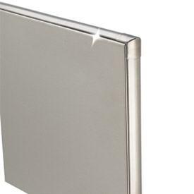 "Stainless Steel ADA Partition Panel - 59"" W x 58"" H"