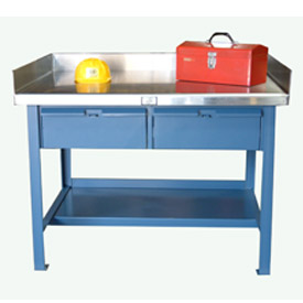 Shop Table with Drawers and Stainless Steel Top