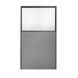 "66"" H x 24"" W Partial Plexiglass Office Partition Panel"