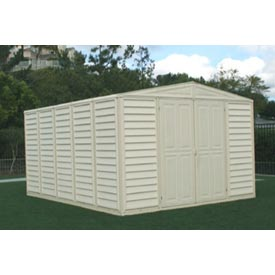 "WoodBridge Vinyl Outdoor Storage Shed 00584, 10'5""W X 13'D X 7'1""H, Includes Foundation by"