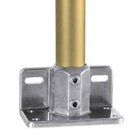 "Kee Safety - L69- 7 - Aluminum Railing Flange with Toe Board Adapter, 1-1/4"" Dia."