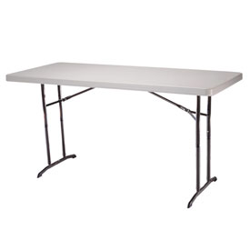 "Lifetime® 72"" Adjustable Height Folding Table, Almond, Pallet Of 22 - Pkg Qty 22"