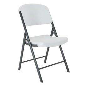 Lifetime Commercial Contoured Folding Chair, White Granite, Pallet of 32 by