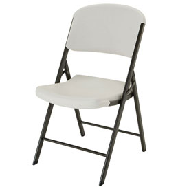 Lifetime Commercial Contoured Folding Chair, Almond, Pallet of 32 by