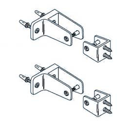 Starter Panel to Wall and Panel to Pilaster Bracket Kit for Steel Partition
