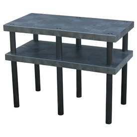 "Plastic Work Bench with Solid Top - 48""W x 24""D x 36""H"