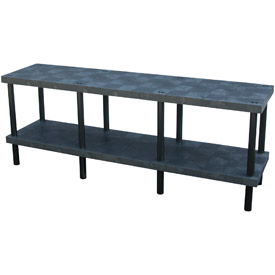 "Plastic Work Bench with Solid Top - 96""W x 24""D x 36""H"