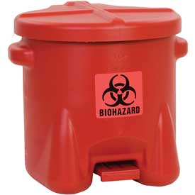 Safety Biohazardous Waste Can - 10 Gallon
