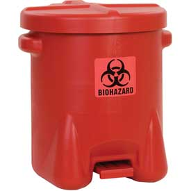 Safety Biohazardous Waste Can - 14 Gallon