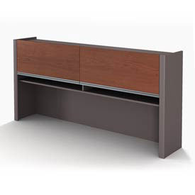Bestar® Hutch for Credenza - Bordeaux & Slate - Connexion Series