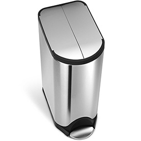 simplehuman® Butterfly Step Can - 8 Gallon Brushed SS