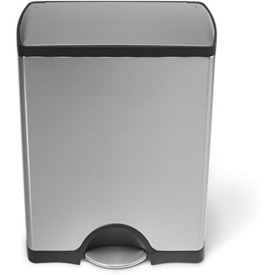 simplehuman® Rectangular Step Can - 13 Gallon Brushed SS