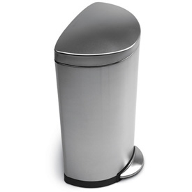 simplehuman® Semi Round Step Can - 8 Gallon Brushed SS