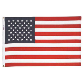 5 x 8' Nyl-Glo US Flag with Embroidered Stars & Lock Stitching