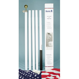 18' Steel Pole Set with 3 X 5' US Polycotton Flag