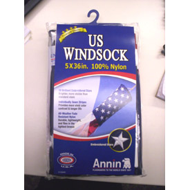 "Nylon Usa Windsock 5"" Dia. X 36"" - Pkg Qty 3"