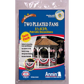 Patriotic Pleated Mini Us Fan - Pkg Qty 3