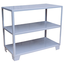 Welded Steel Shelving, 3 Shelves 24 x 36 Gray