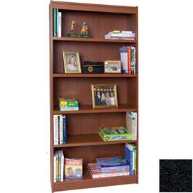"72"" Laminate Bookcase, Charcoal Gray"