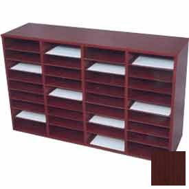 36 Compartment Literature Organizer - Mahogany Laminate