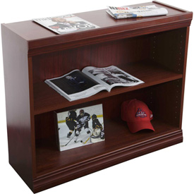 "Jefferson Traditional Bookcase 30"" H, Medium Cherry"