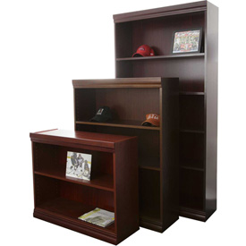 "Jefferson Traditional Bookcase 72"" H, Medium Cherry"