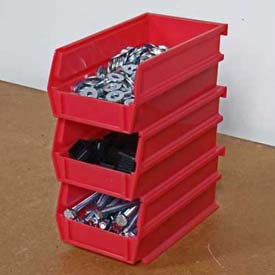 "Storability Bins 7-3/8""D x 4""W x 3""H Red (10 pc)"