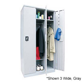 "Sandusky Snapit  Boltless Steel Locker KDCL7212/1 Single Tier - 12""x18""x72"" Putty, Unassembled"