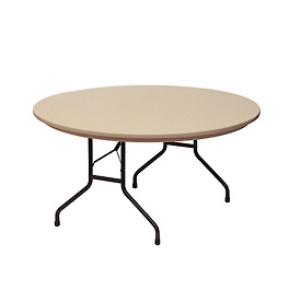 "Correll Folding Table - Blow Molded - 60"" Round, Mocha Granite"