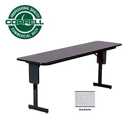 "Correll Folding Seminar Table - 18"" x 60"" - Gray Granite"