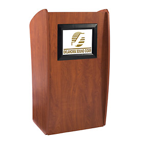 The Vision' Mobile Presentation Podium / Lectern with Built-In LCD Screen