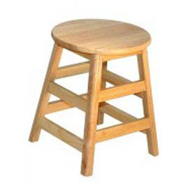 "Stools - Allied Plastics Hardwood Stool - 18"" High"