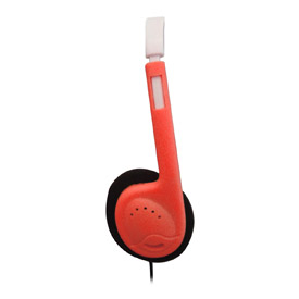 Automatic Sound Limiting Headphones, Red