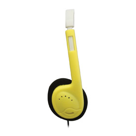 Automatic Sound Limiting Headphones, Yellow