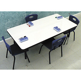 "Whiteboard Activity Table 30"" x 72"" Rectangle, Juvenile Adjustable Height"