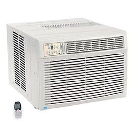 Window Air Conditioner with Heat, 18,500 BTU Cool, 16,000 BTU Heat, 230/208V