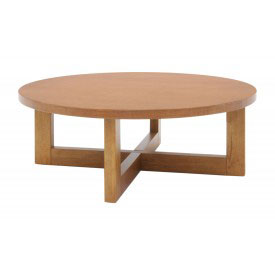 "37"" Round Coffee Table - Medium Oak Finish"