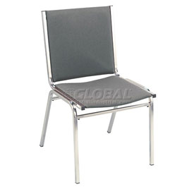 "KFI Stack Chair - Armless - Fabric - 1"" thick Seat Gray Fabric"