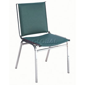"KFI Stack Chair - Armless - Vinyl - 1"" thick Seat Forest Vinyl"