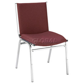 "KFI Stack Chair - Armless - Fabric - 2"" thick Seat Burgundy Fabric"