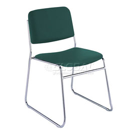 Sled Base Armless Stack Chair - Forest Vinyl