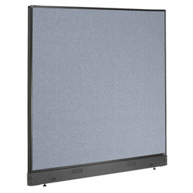 "Office Partition Panel with Raceway, 60-1/4""W x 46""H, Blue"