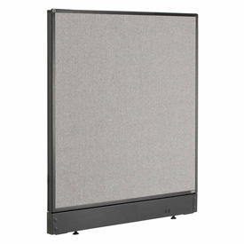 "Interion™ Office Cubicle Partition Panel with Raceway, 36-1/4""W x 46""H, Gray"